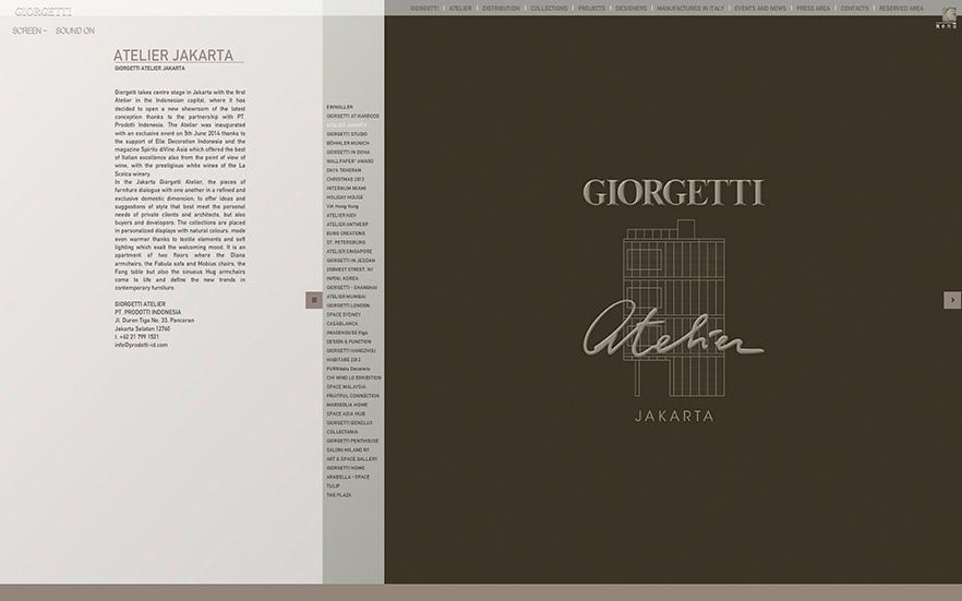 Giorgetti Atelier Jakarta